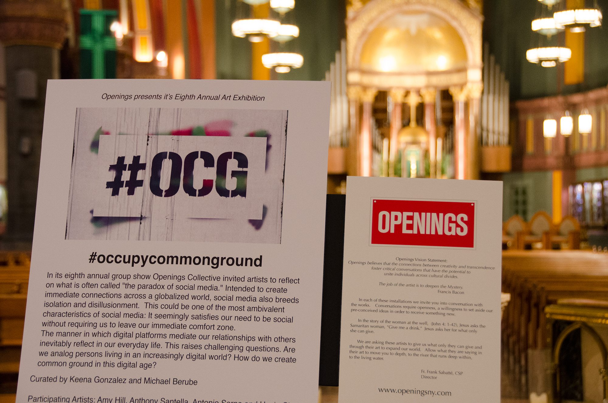 #OCG Exhibition Opening Reception